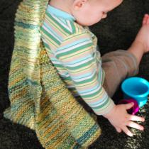 Miller & June Free Knit Baby Blanket Pattern | EvinOK.com