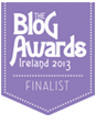 2013 Blog Awards Ireland Finalist