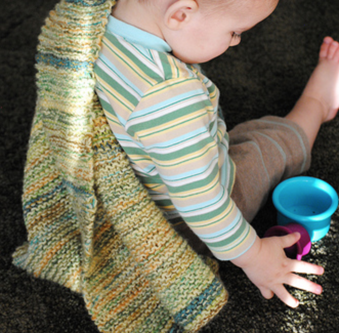 Miller and June Baby Blanket by Evin Bail O'Keeffe | EvinOK