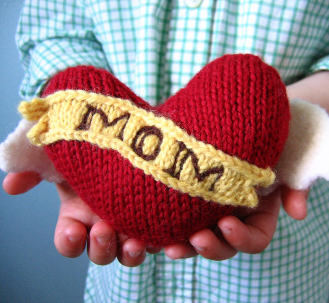 Вязаный подарок маме на день рождения