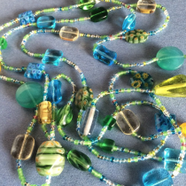 Beauty Boho Glass Bead Necklace handmade in one afternoon