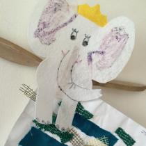 Felt Elephant Clothespin