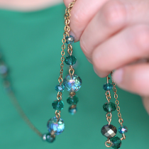 Repairing and Reinventing Tangled Brass/Glass Necklaces