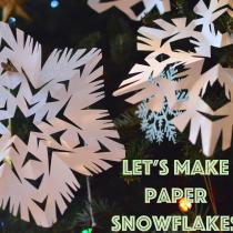 Let's Make Paper Snowflakes EvinOK.com blog