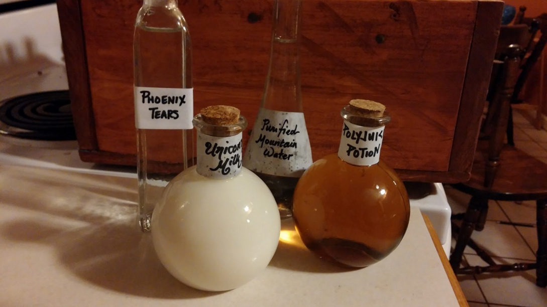 How to make your own Harry Potter Potions Kit by Katie of Curdled Like Cheese as a guest post on EvinOK.com