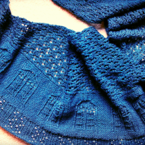 Knitting the Bigger on the Inside TARDIS Shawl