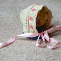 Christening Hat knit by Marseille