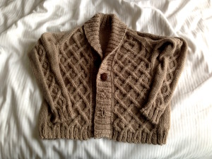 Gramps Cableknit Child's Cardigan knit by Marseille