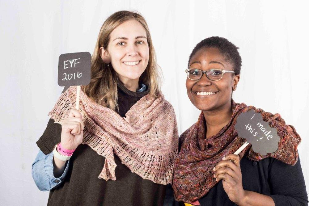 Me and Georsan at the Edinburgh Yarn Festival 2016 Photobooth | EvinOK.com