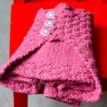 Baby Soft Cardigan by Jennifer Hagan. Knit by Marseille | EvinOK.com