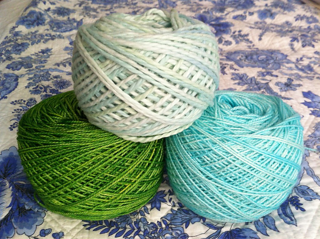 madelinetosh sock and Blue Sky Alpaca Cotton | EvinOK