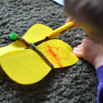 Making a Butterfly with Felt and Pipe Cleaners | EvinOK