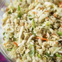 Chopped Chicken Salad with Wasabi Dressing like Tao Tao's Chicken Salad Recipe | EvinOK.com