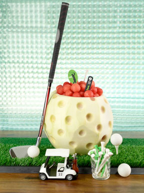 Golf Ball Carved from Watermelon | EvinOK.com