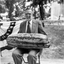 John V. Oberholtzer with Watermelon-Leesburg | EvinOK.com