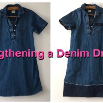 Lengthening a denim dress | EvinOK.com
