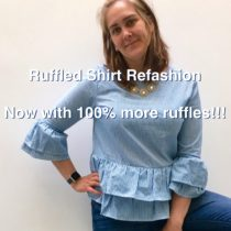 Ruffled Shirt Refashion: Now with 100% More Ruffles | EvinOK.com