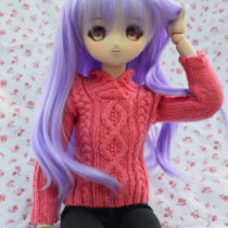 Cross-over Collar Aran Doll Sweater | EvinOK.com