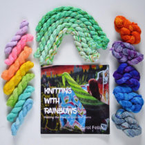 Knitting with Rainbows by Carol Feller | EvinOK.com