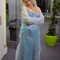 How I Sewed My Homemade Elsa Halloween Costume | EvinOK.com