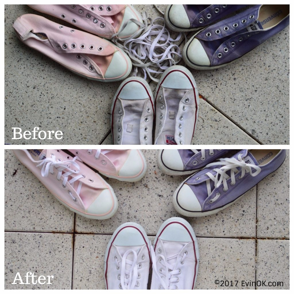 How I Clean White Converse Sneakers | EvinOK