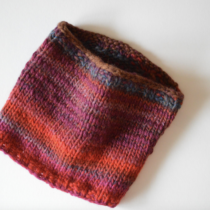 Super Chunky Knit Cowl for Knitmas | EvinOK