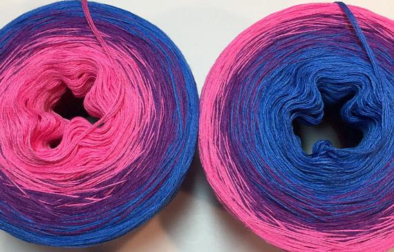 gradient yarn from jazz hands fusion fiber