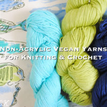 non acrylic vegan yarns for knitting and crochet | EvinOK