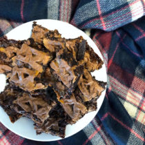 Curly Wurly Gluten-free Brownies from a Boxed Mix | EvinOK