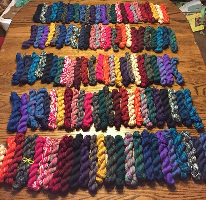 ADVENTurous KAL mini skein swap