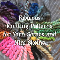 Fabulous Knitting Patterns for Yarn Scraps and Mini Skeins | EvinOK