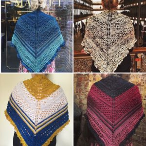 City Stitchette - Chelsea Girl Shawl four ways
