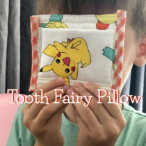 Sewing a tooth fairy pillow with Pokémon fabric | EvinOK