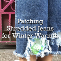 Patching Shredded Jeans for Winter Warmth | EvinOK