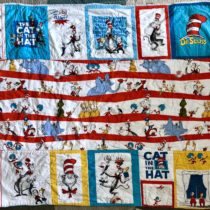 Mistake-filled by perfectly imperfect Dr. Seuss Quilt for Story Time and Snuggles | EvinOK