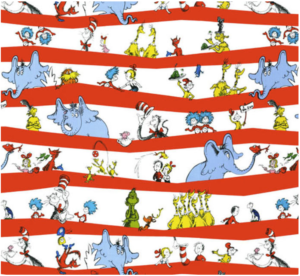 Dr Seuss Fabric for a story time quilt | EvinOK