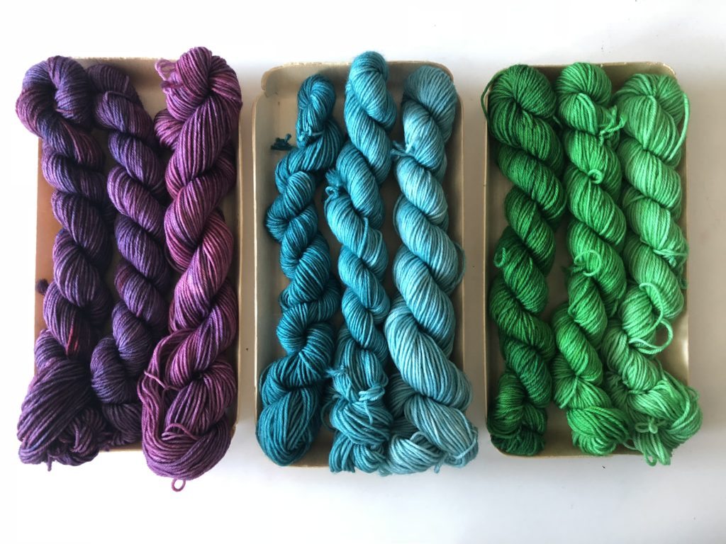 Mini Skeins from Eve Chambers Textiles | EvinOK