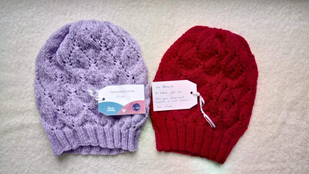 Two knit hats
