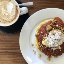 Rhubarb Pancakes at Ali's Kitchen of Cork city | EvinOK