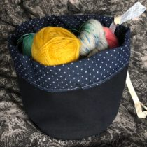 Cotton project bag for knitting | EvinOK
