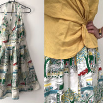Turning a too-small dress into a custom skirt | EvinOK