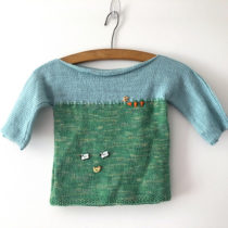 Baby Knitting Patterns | Field & Sky Pullover | EvinOK
