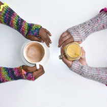 Firefly Hour Mitts | Ultraviolet Knits | EvinOK