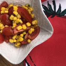 Make Ahead Vegan Tomato and Corn Salad for Picnics