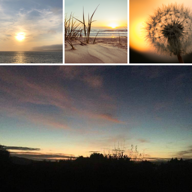 Sunrise photos and mood board