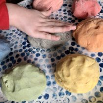 Making Homemade Play Dough | EvinOK.com