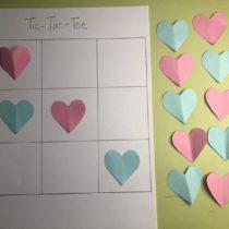 Paper Tic-Tac-Toe Hearts Game | EvinOK